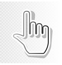 hand sign new year blackish vector image