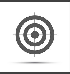 simple gray pictogram in the shape of a target vector image