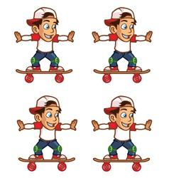 Skater Boy Rolling Sprite vector image