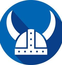 Viking Helmet Icon vector image vector image