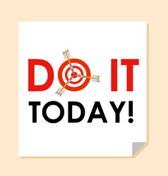 words do it today with dart instead o vector image
