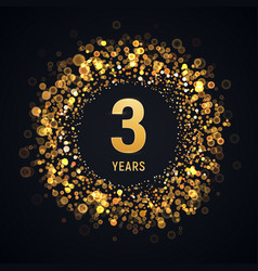 3 years anniversary isolated design element vector image