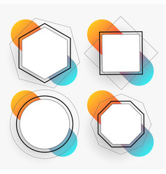 abstract geometric frames set template vector image