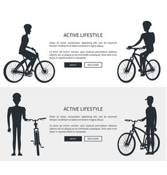 active lifestyle silhouettes vector image