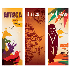 Africa travel background decorative symbol vector