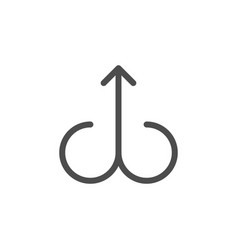 arrow line icon vector image