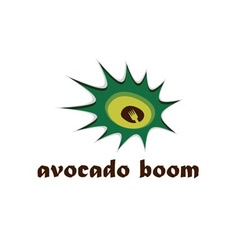 Avocado boom concept design template vector