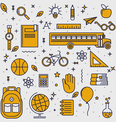 Back to school pattern vector