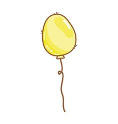 Balloon party to happy birthday decoration vector