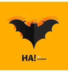 Bat cut out of paper vector