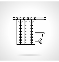 Bathroom curtain flat line icon vector image