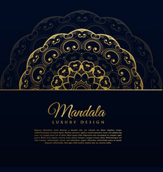 Beautiful mandala decoration background design vector
