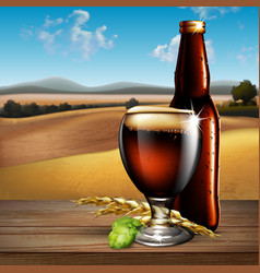 Beer background highly realistic with the vector