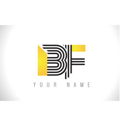 Bf black lines letter logo creative line letters vector