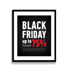 black friday sale poster on white background vector image