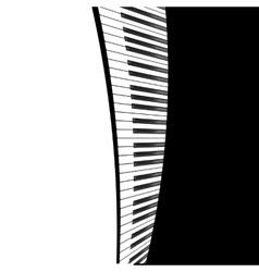 Black piano template vector