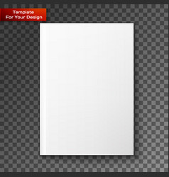 blank magazine isolated vector image