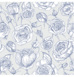 botanical seamless pattern with blooming english vector image