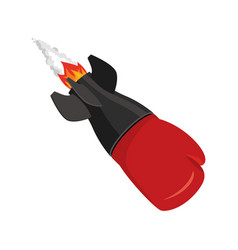 boxing glove rocket sport air bomb fighting vector image