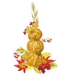 bright harvest season autumn decorative element vector image