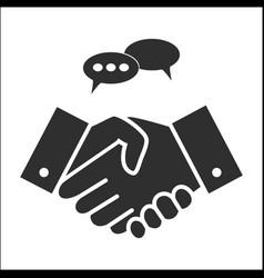 Business people handshake in grey colors vector