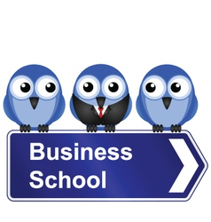 BUSINESS SCHOOL SIGN vector