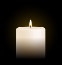Candle tealight or tea light 3d realistic icon vector