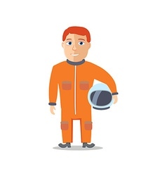 Cartoon Character Spaceman with Cpace Suit vector image vector image