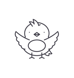 chick line icon concept chick linear vector image