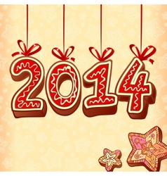 christmas sweets style new year sign vector image