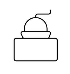 cofee grinder icon vector image