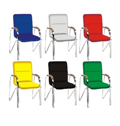 Color metal chair vector