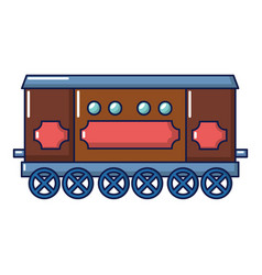 Compartment carriage icon cartoon style vector
