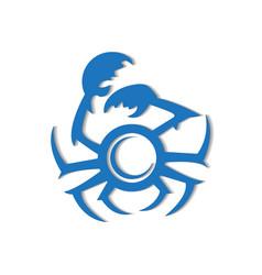 crab logo image white background vector image