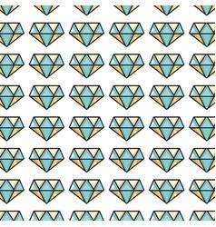cute diamond elegant accessory background design vector image