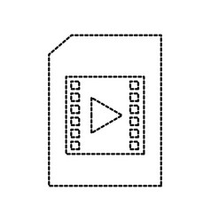 document file movie film player online digital vector image
