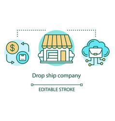 drop ship company concept icon supply chain vector image