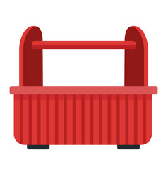 Empty toolbox isolated vector