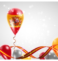 Flag of Spain on balloon vector image
