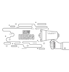 Hand holding a megaphone vector