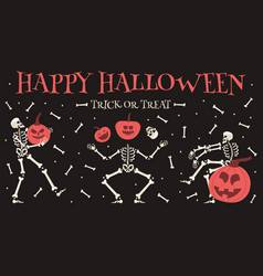 Happy halloween party poster spooky halloween vector