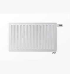 Heating steel panel radiator for hvac systems on vector
