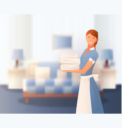 Hotel staff gradient composition vector
