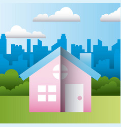 House residence home family protection vector