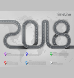Infographic road timeline template vector