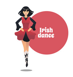 irish dance in cartoon style vector image