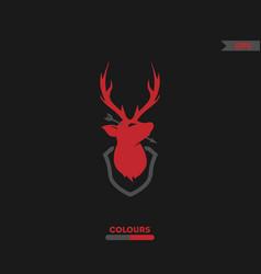 killed deer logo vector image