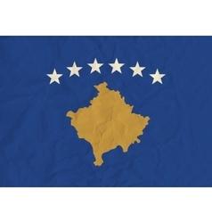 Kosovo paper flag vector image