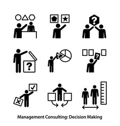 Management consulting - decision making vector