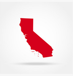 map us state california vector image